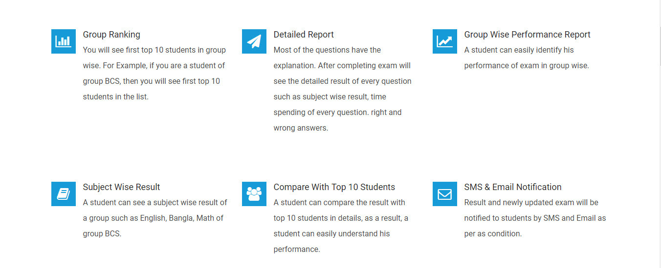 Exam Feature of Myexaminer.net